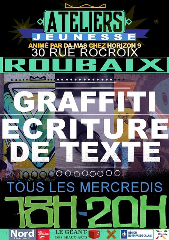 ATELIERS GRAFFITI + ECRITURE DE TEXTE