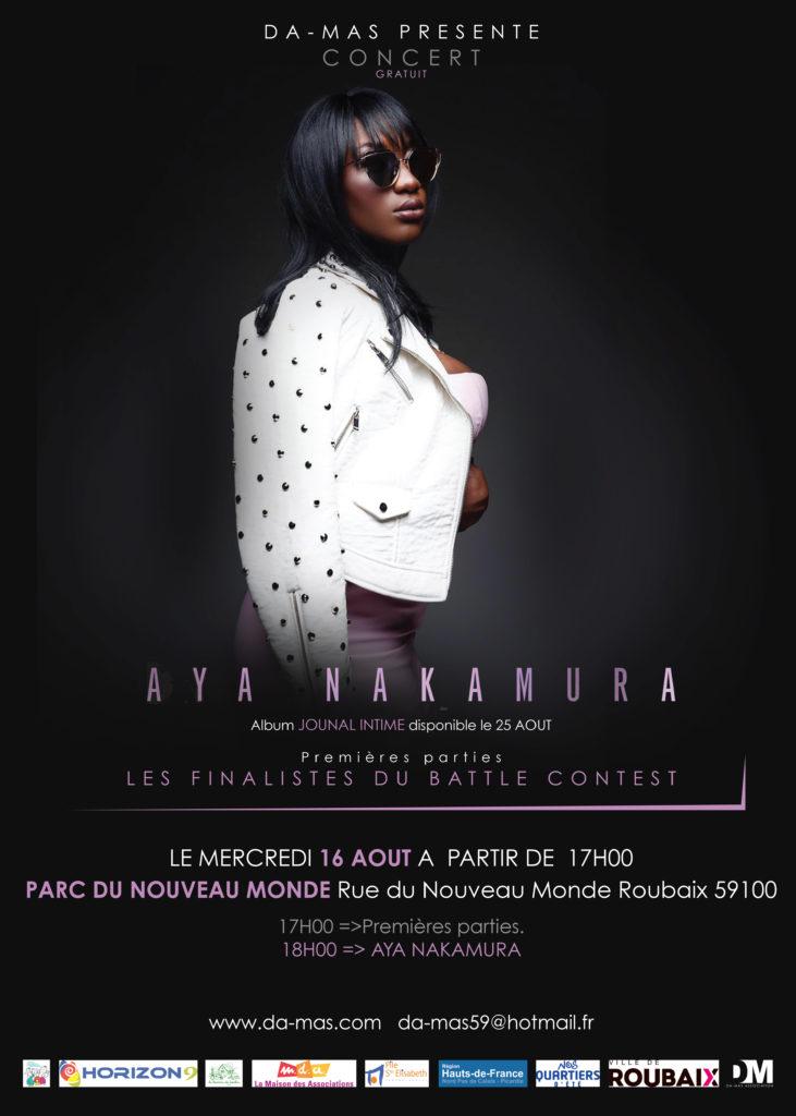 Concert Aya Nakamura 16 Août 2017