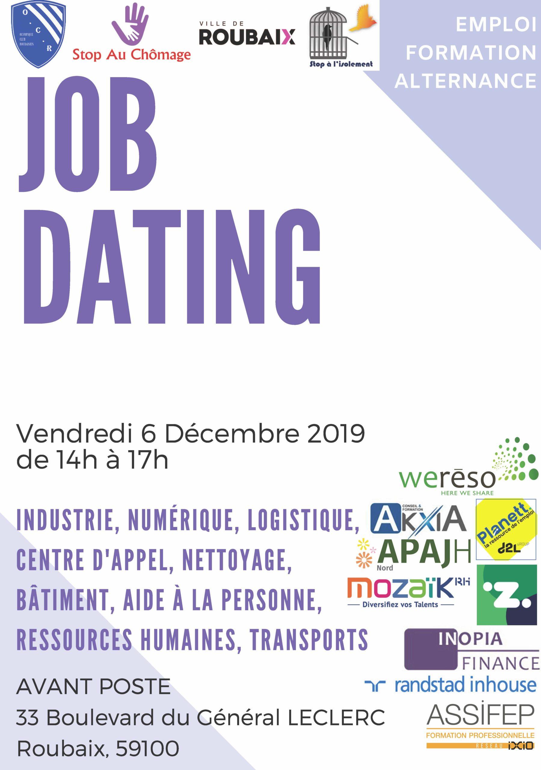 Info Job Dating du 6 décembre 2019